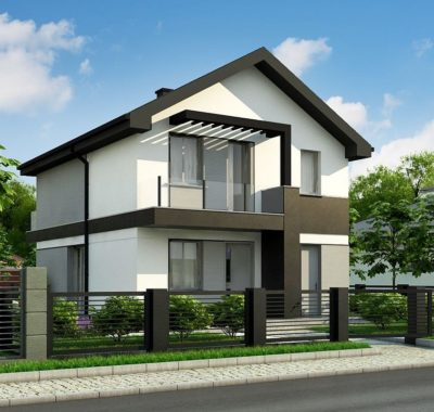 Компактный двухэтажный дом с. Доброе