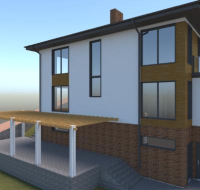 Шикарный дом с панорамным видом с. Изобильное